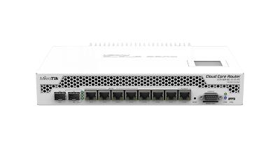 MIKROTIK VENT-PASIVA DESKTOP/RACK L6 CCR1009-8G-1S-1S+PC SFP+ SD USB